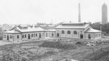 Vy över parkkontoret från 1910.