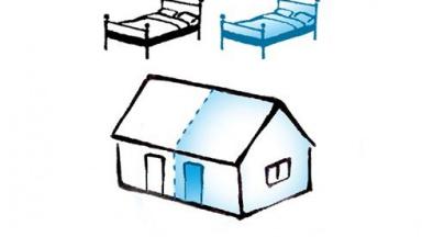 skiss ny bostad i befintlig byggnad