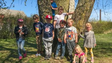 Barnen på Klagstorps förskola.