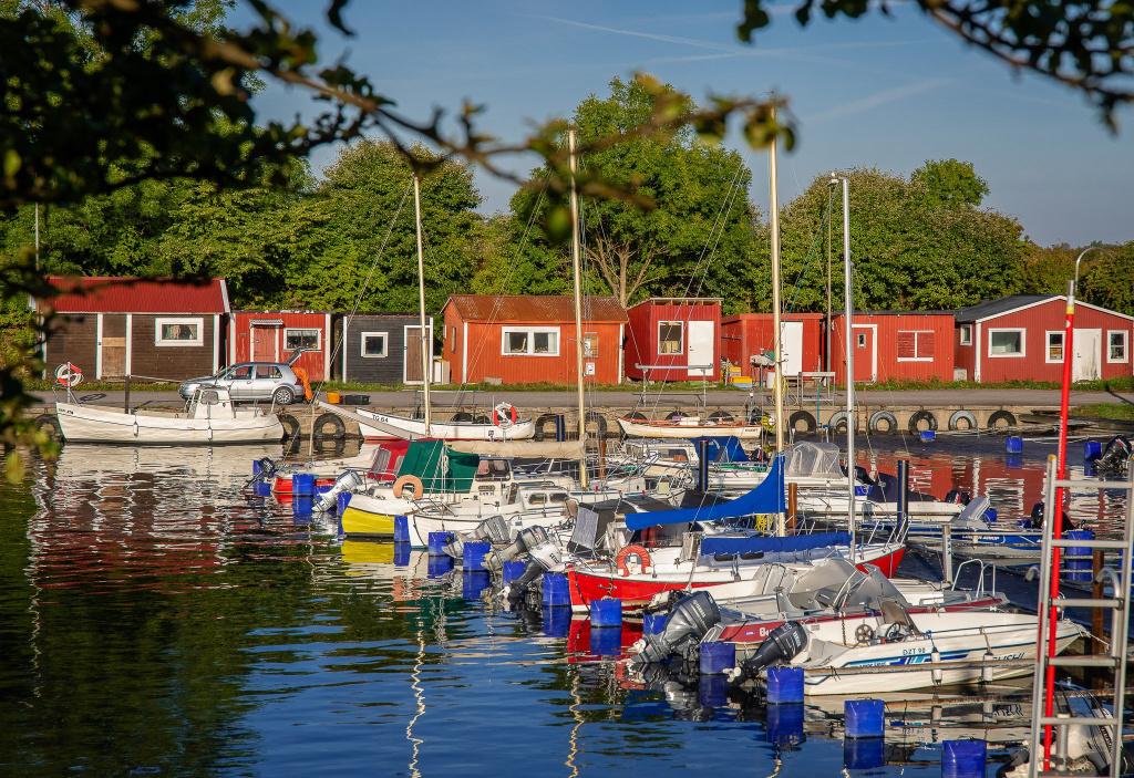 Smygehamns hamn är belägen på Sveriges sydligaste udde.
