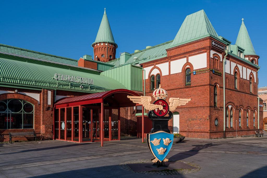 Den gamla tågstationen i Trelleborg.