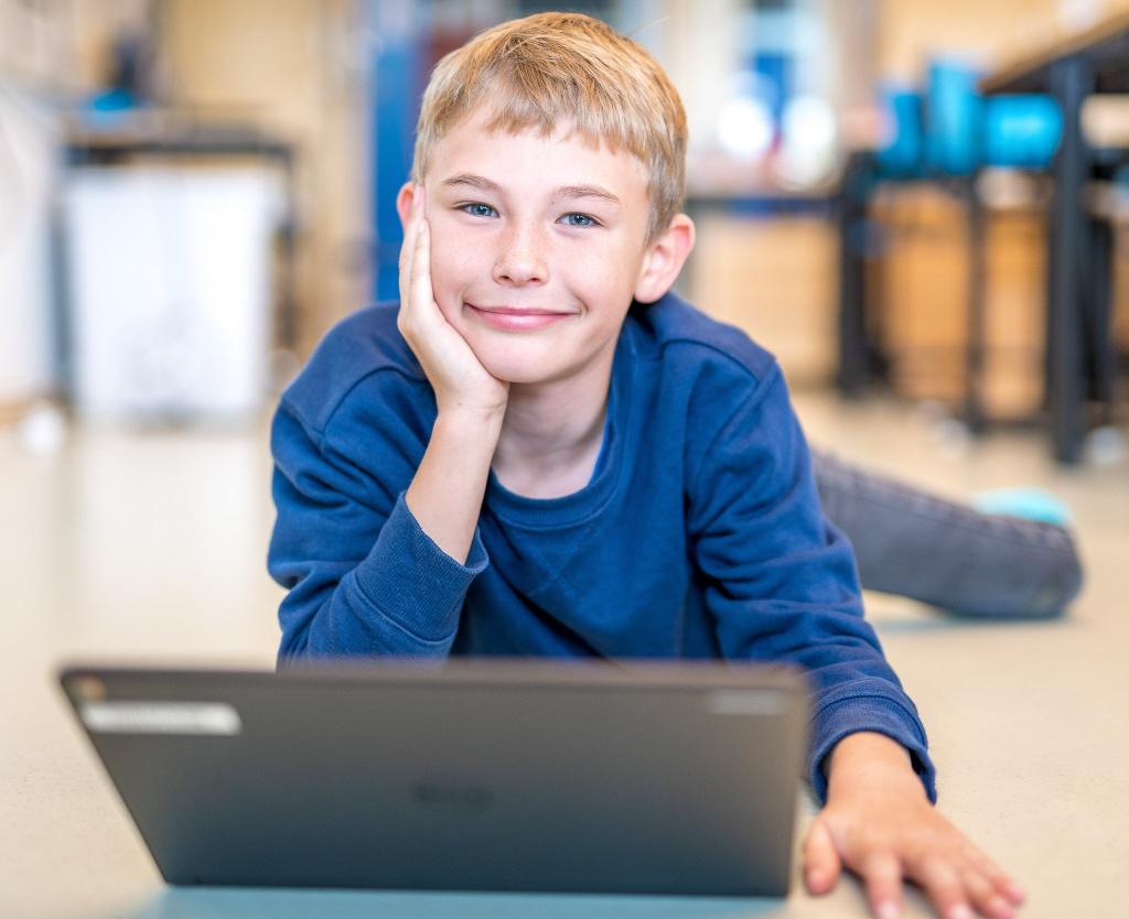 Från årskurs fyra har varje elev i Trelleborg kommuns skolor tillgång till en personlig dator.