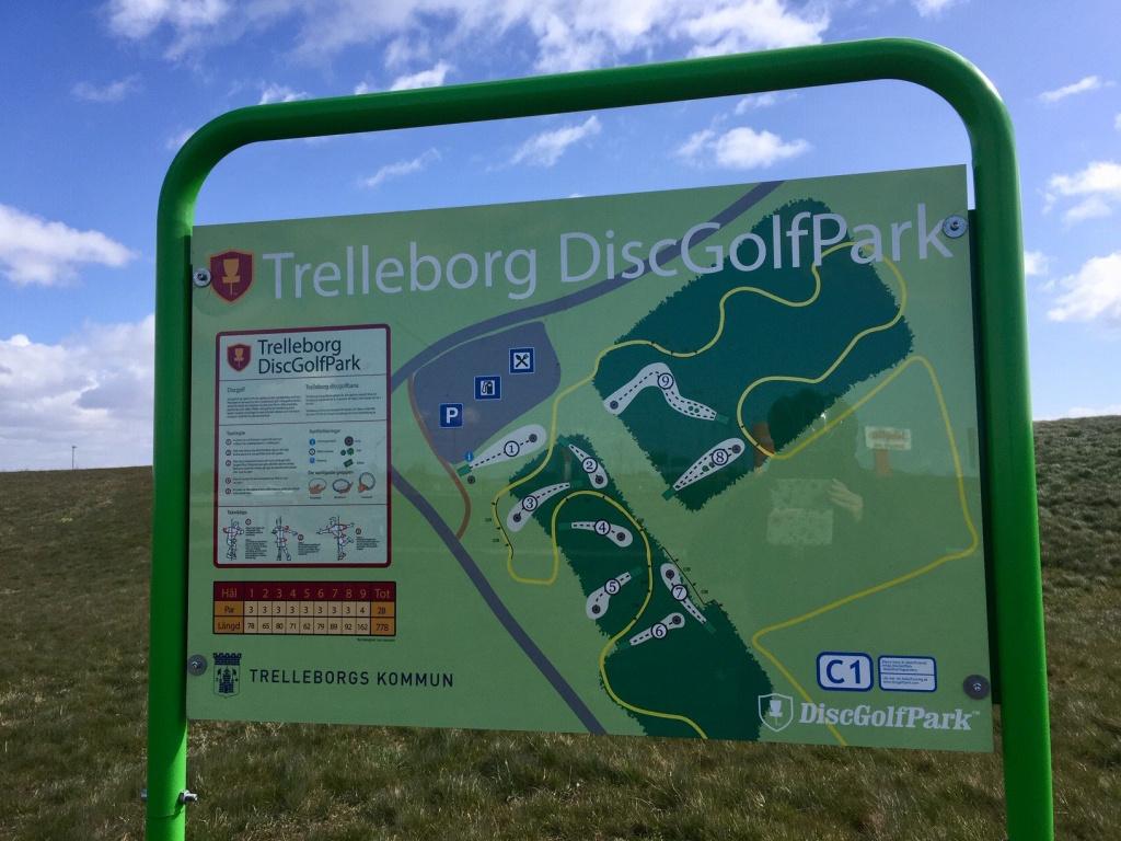 Discgolfpark i Albäck.