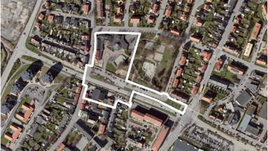 Foto uppifrån av planområdet