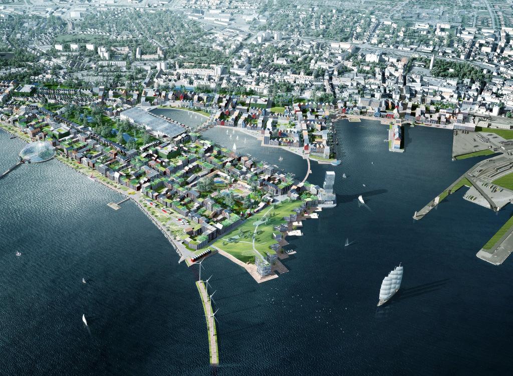 Översiktsbild framtida stadsdelar