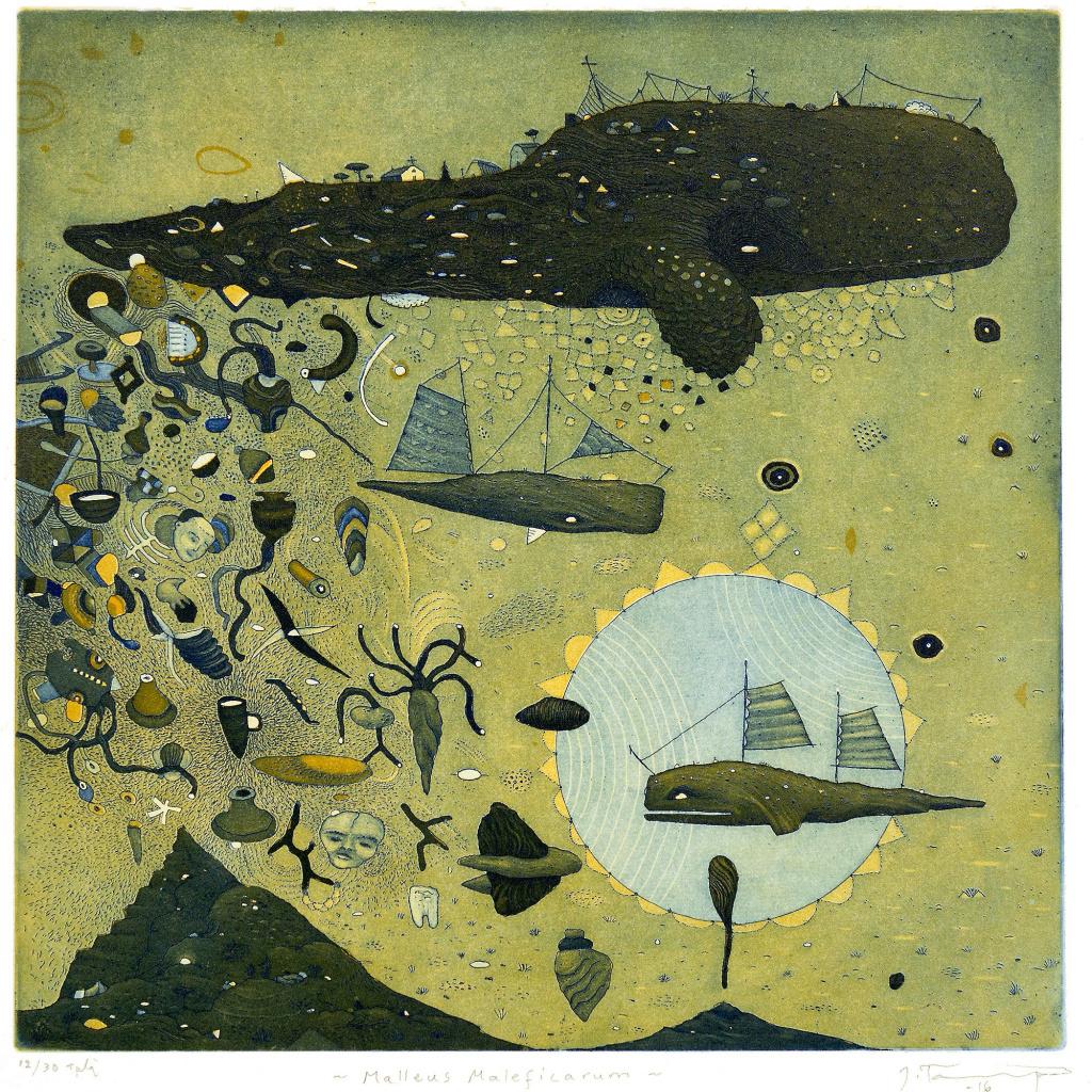 Grafiktriennalen, verk av Juha Tammenpä