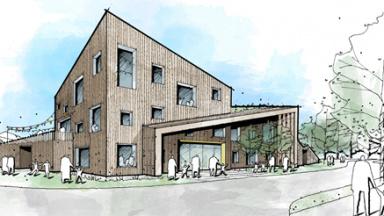 Förslag förskola kvarteret Bollen illustration