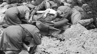 Röda korset, övning år 1949.