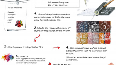 Workshopblad till utställningen New Pattern.