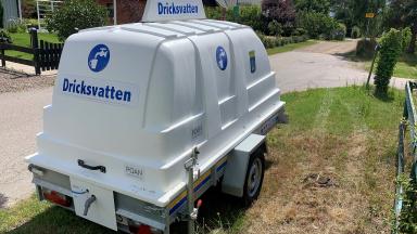Nödvattentank för dricksvatten.