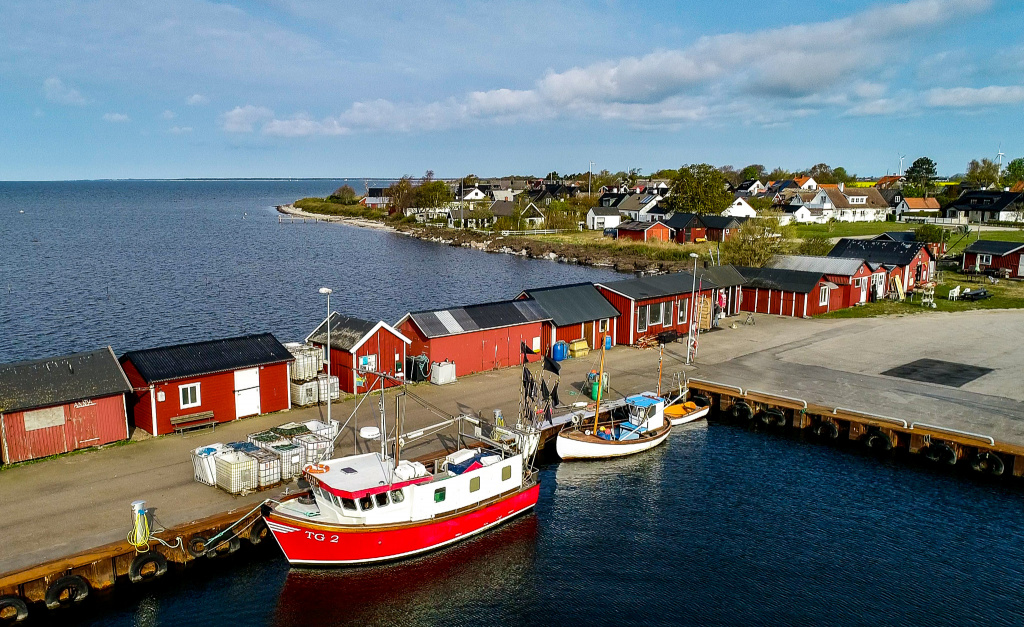 Flygfoto Skåre hamn