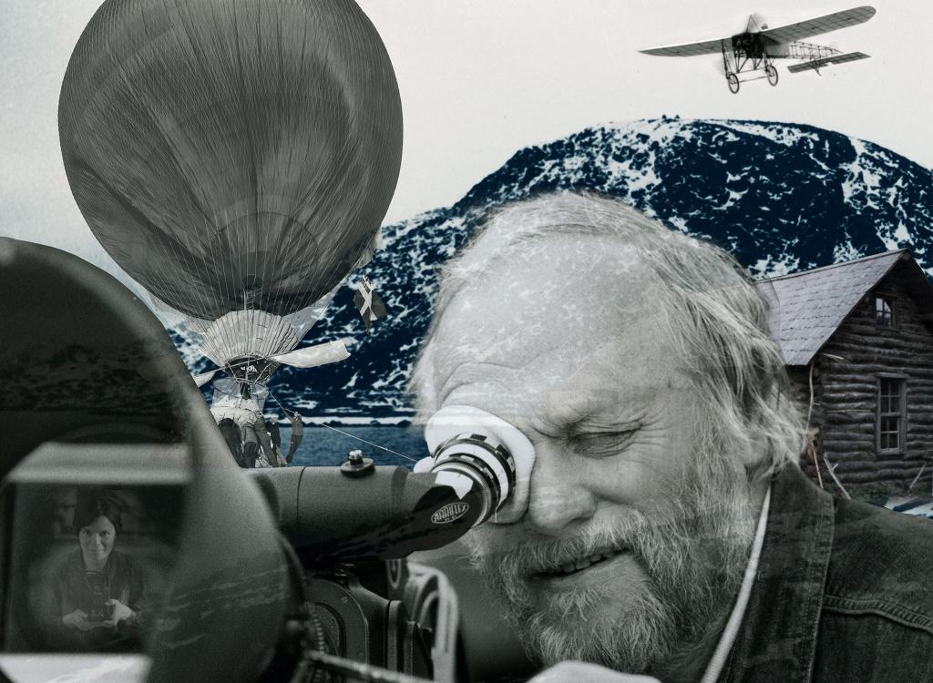 Affischbild för utställning om Jan Troell