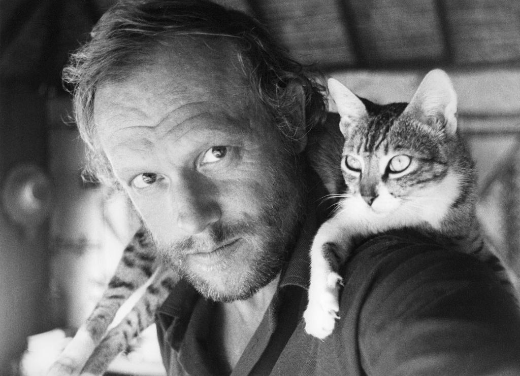 Jan med katt