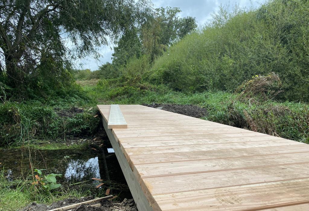 Bro i grönområde
