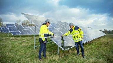 Trelleborgs Energi - solcellsanläggning i Smygehamn