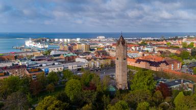 Flygfoto över Trelleborg