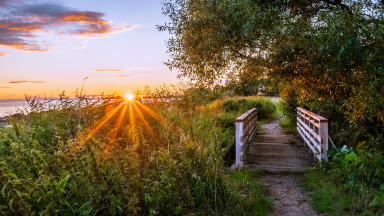 Solnedgång vid Dalköpinge ängar