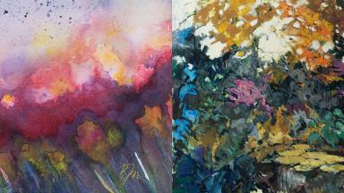 Kollage av målningar