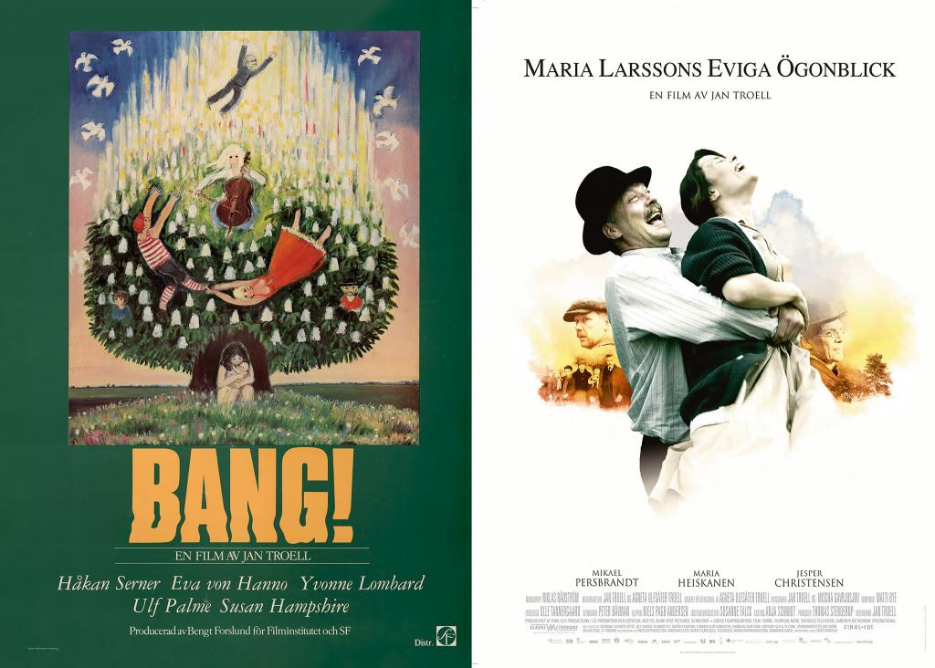 Affischer på filmerna Bang och Maria Larssons eviga ögonblick